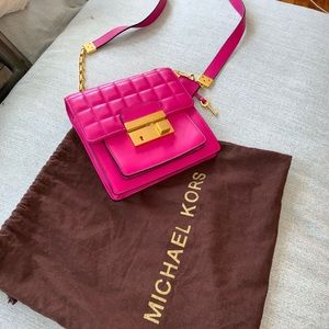 Hot pink Michael Kors quilted crossbody